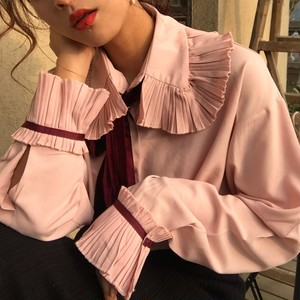 ♡Ribbon Self Tie Blouse 681