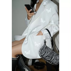 butterfly pattern tailored jacket