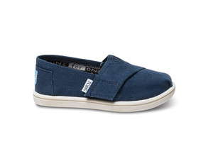 Canvas Tiny TOMS Classics  ( Navy ) トムス キッズ