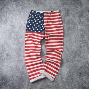 星条旗柄 総柄パンツ   W33 × L36    メンズ 古着 A391