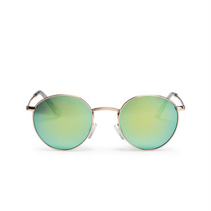【CHPO】Liam (golden frame and a turquoise mirrored lense)