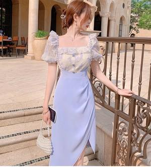 feminine パール付きストラップミディスカート c3957