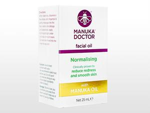 【(マヌカドクター) ノーマライジングフェイシャルオイル 25ml】 ノーマライジングフェイシャルオイルは、くすみ・赤みを減らしてお肌のトーンを均一にするとともになめらかにするとされております。