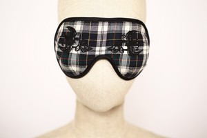 "まつエクしてても着用OK! Solid EyeMask ""Swallow / green"""