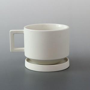 ONS(オンス) COFFEE CUP ホワイト φ8×H6.5cm コーヒーカップ 日本 磁器 シンプル スタイリッシュ テーブルウェア 食器