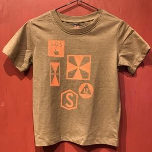 【タコベル】鉄道記号Tシャツ(ブラウン・105)