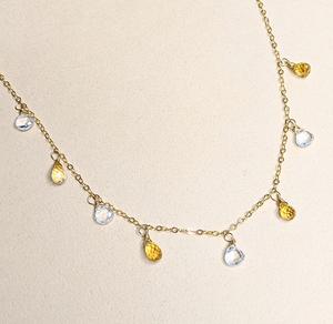 Citrine & Quartz necklace | MIHO meets RUKUS