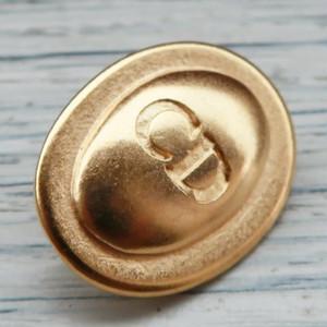 732 Cristian Dior VINTAGE (ディオール ヴィンテージ) CDマーク デザイン ボタン ゴールド