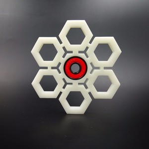 Spinner 3D Printed Snowflake by YomaxerTOYs
