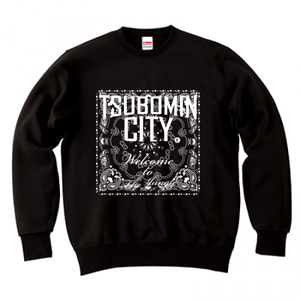 TSUBOMIN / BANDANA TSUBOMIN CITY CREWNECK SWEAT BLACK