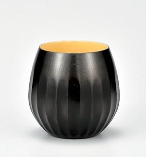 KE10-06 欅 菊彫ワイン杯 神代白漆