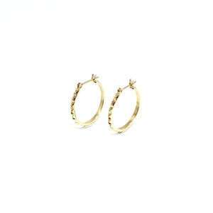 Triangle stud hoop pierce - K18YG