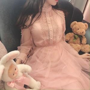 【即納】レイヤードレースドレス