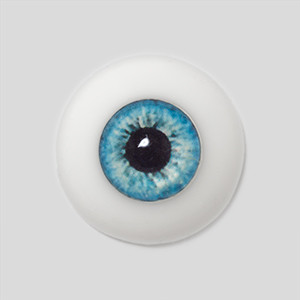 Silicone eye - 19mm Chic Blue Ice