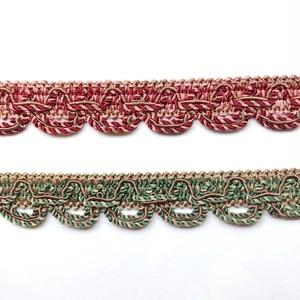 深みカラーの細ロープ編みリボン