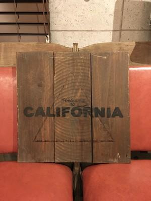 品番0198 ウェルカムボード CALIFORNIA  木製 welcome boad インテリア 011
