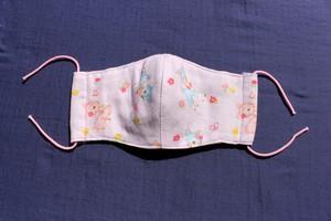 【幼児用】織目の細かいガーゼ6重構造、ポケット付き立体マスク ベビー用(0~3歳児)