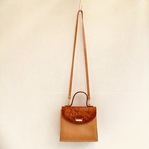 vintage leather mini shoulder & hand bag