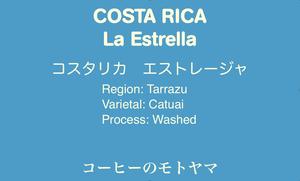 【コスタリカ】 ラ・エストレージャ ☆中深煎り 200g