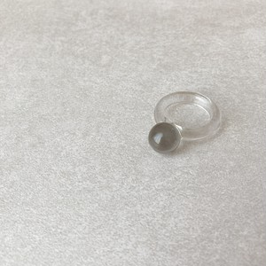 clear gray ball ring