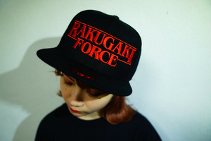 "2020 ""RAKUGAKI FORCE"" Logo Snap Back Cap Black/Red"
