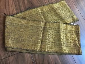 ラオス 巻きスカート 裾飾り布3