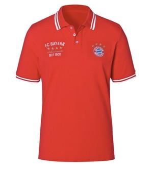 バイエルン・ミュンヘン(FC Bayern Munchen) Mens Rekordmeister red ポロ