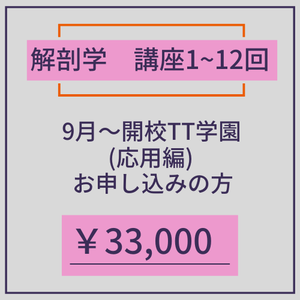 TT学園 解剖学 9月~申込者限定価格