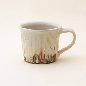 鉄散 線彫切立マグカップ 古谷製陶所 信楽焼