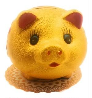 金猪貯金箱 縁起物 パワーグッズ サイズ 14 号
