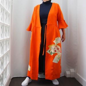KIMONO Wrapped Dress'n Coat -着物を使った2Wayドレスコート 1点ものです!着物リメイク