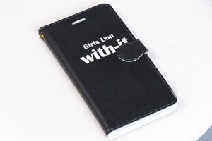 【送料込み】iPhone系手帳型スマホケース(ロゴ柄)