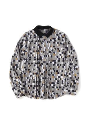 (フレッドペリー) FRED PERRY F8339 30 WOMEN PRINT SHIRT プリントシャツ GREY