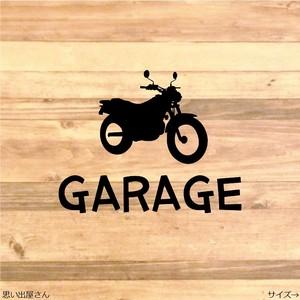 バイク好きへ!プレゼントにも!ガレージルームステッカーシール