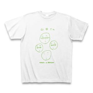 【ガチコイコラボ】「山田さんT」BELLRING少女ハート・カイ直筆Tシャツ(白/黄緑)