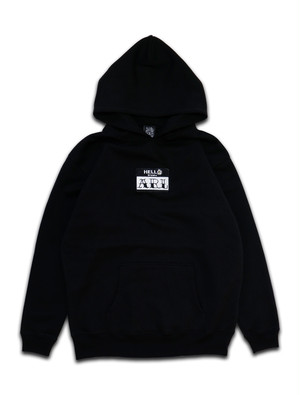 LOGO PATCH FLOWER HOODIE black
