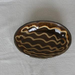 中川紀夫 スリップウェア楕円鉢