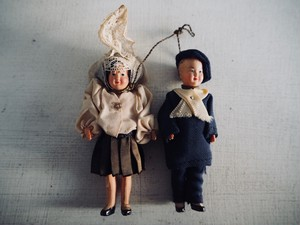 Very small twin child / CELLULOID / FRANCE 1950