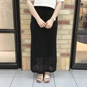 柄模様ニットスカート(29185)