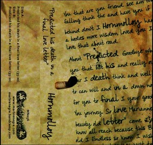 HORNMOLLOY - Predicted his death in a final love letter  Tape