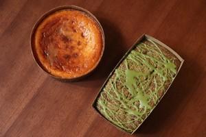 バスク風チーズケーキと宇治の抹茶ケーキ(各2〜3人前)セット