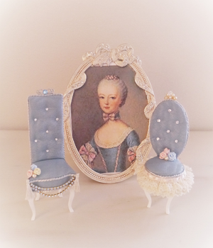 Princess  Charm  Chair           Flower  Princess                  プリンセスチャームチェア                      フラワープリンセス               (ブルー)