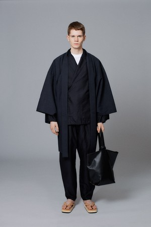 羽織 / Shadow stripe / 墨黒(With tailoring)