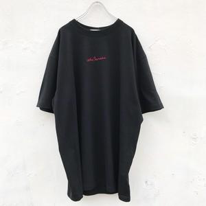 jieda 刺繍embroidery tee(black)
