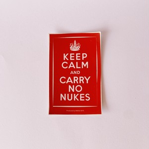 BISOU NO NUKES ステッカー (KEEP CALM and CARRY NO NUKES)