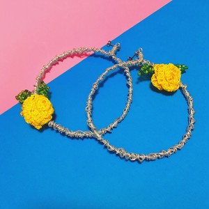 YELLOW ROSE MOTIF pierce or earring