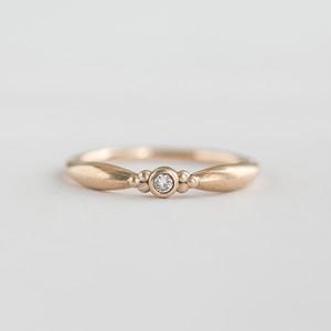 リーフ K10イエローゴールド ダイヤモンド リング