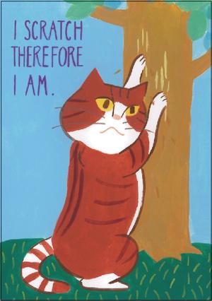 ポストカード 猫(スクラッチ)