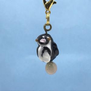 動物とんぼ玉チャーム *フンボルトペンギン*