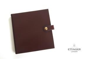 エッティンガー ETTINGER クオバディス用ブライドルレザー手帳カバー ブラウン